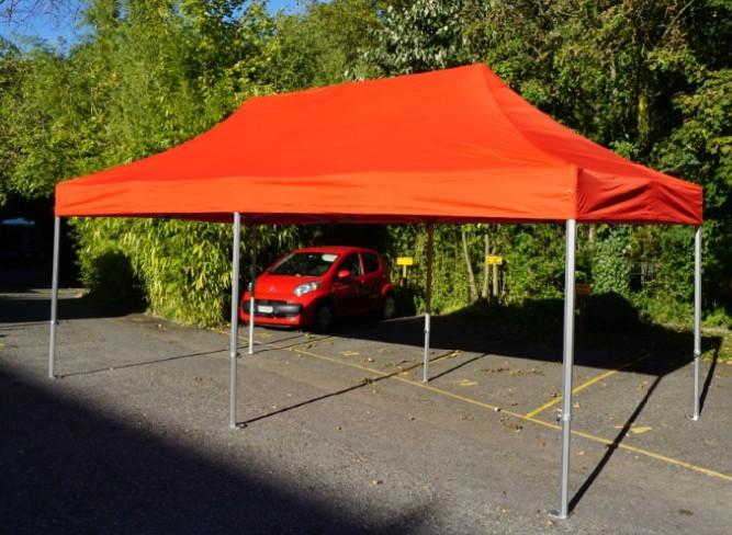 Faltzelt Groß 3x5 Meter Mit 6 Beinen In Orange