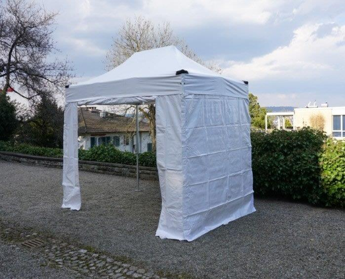 2 X 3 Meter PVC Inklusive 4 Seitenwände Weiß
