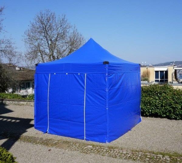 3x3 Meter PVC Inklusive 4 Seitenwände Blau
