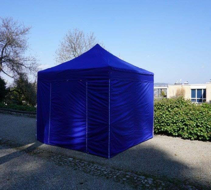 3x3 Meter Polyester inklusive 4 Seitenwände blau