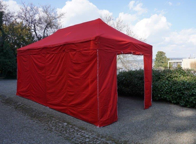 3x6 Metet Polyester inklusive 4 Seitenwände rot