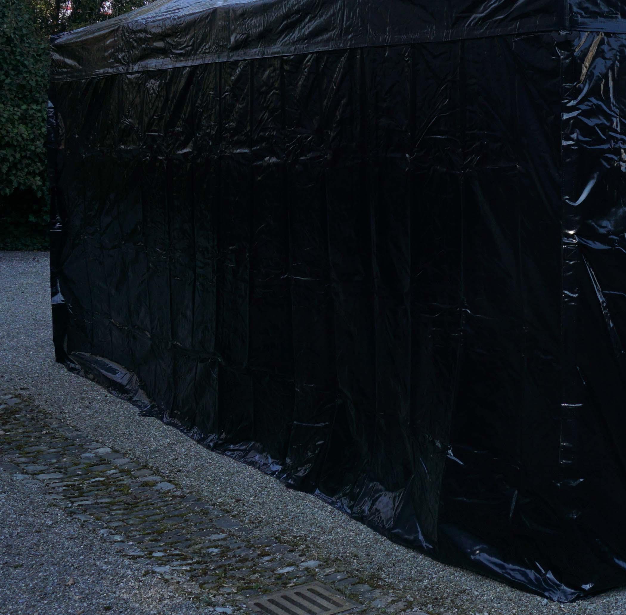 Seitenwand PVC 6m Schwarz