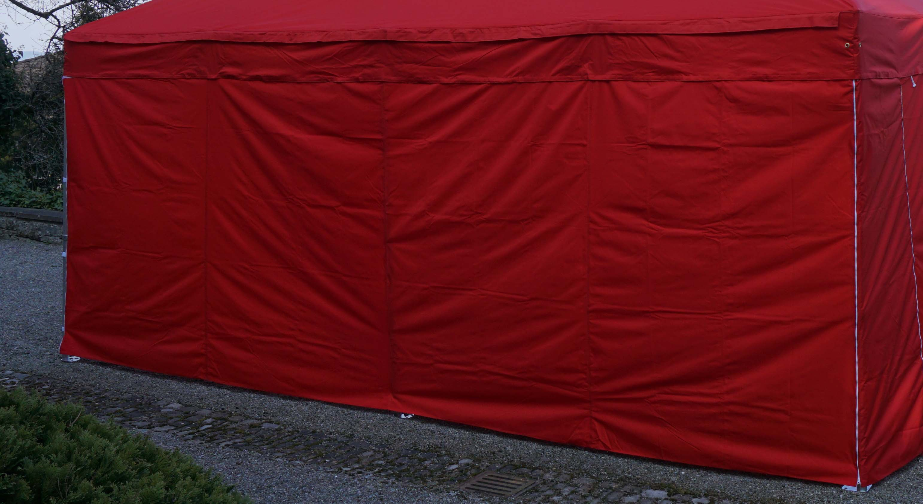 Seitenwand Polyester 6m rot