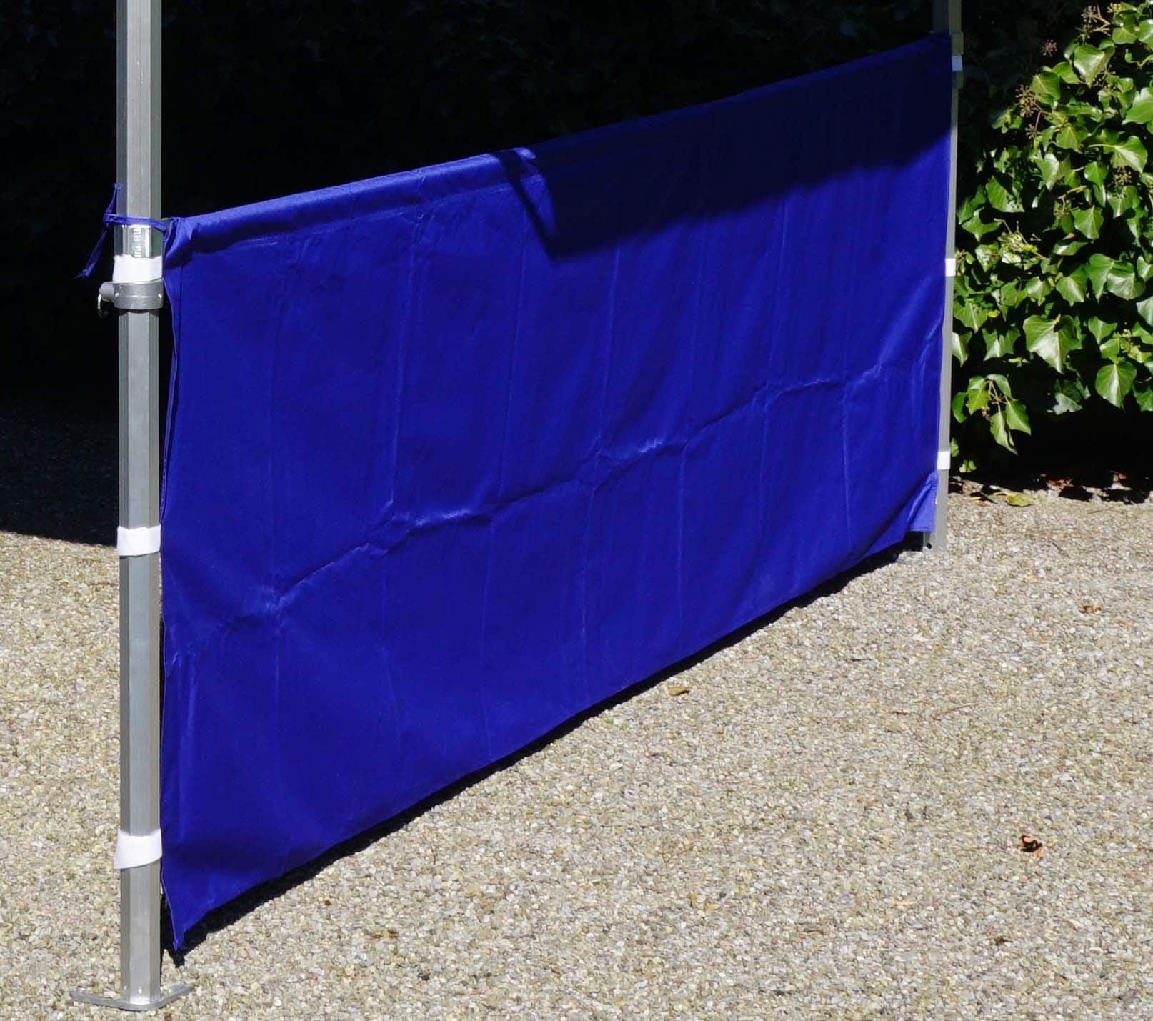 Halbe Seitenwand Polyester 3m Blau