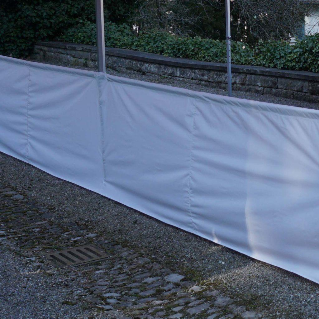 Halbe Seitenwand Polyester 6m Weiss